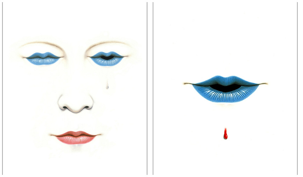 "Cover artwork for Talk Talk's The Party's Over album (left) and ""Today"" single (right) by James Marsh"