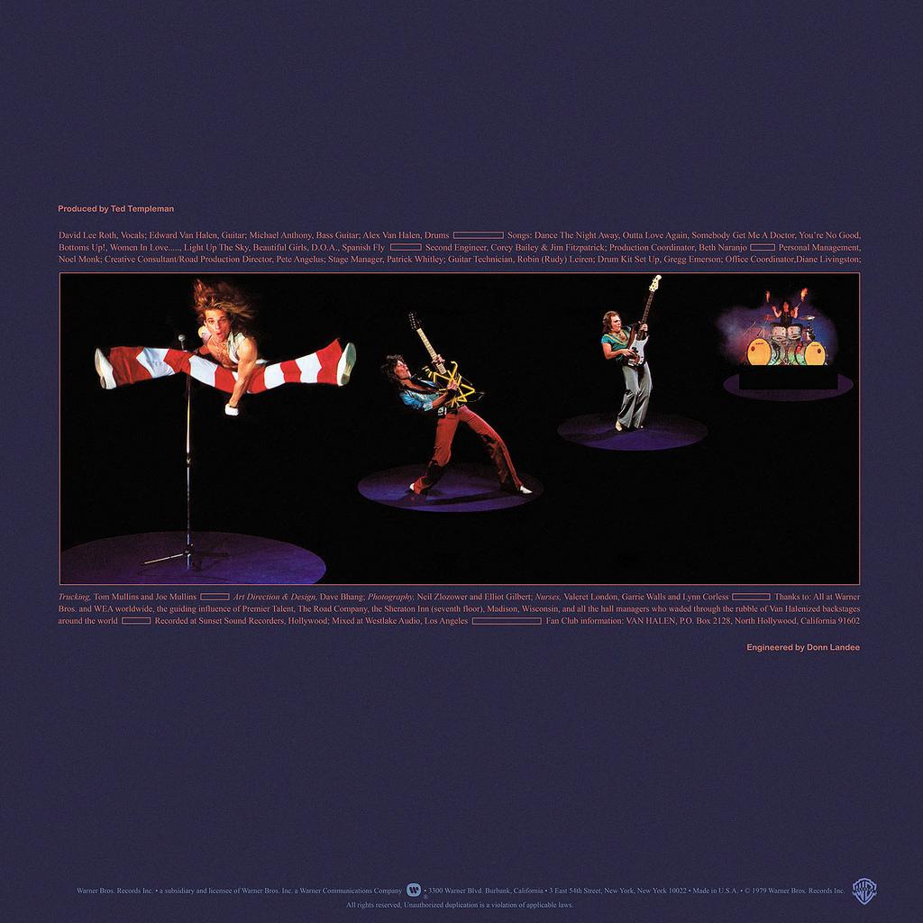 Back cover of Van Halen -Van Halen II (Warner Bros., 1979)