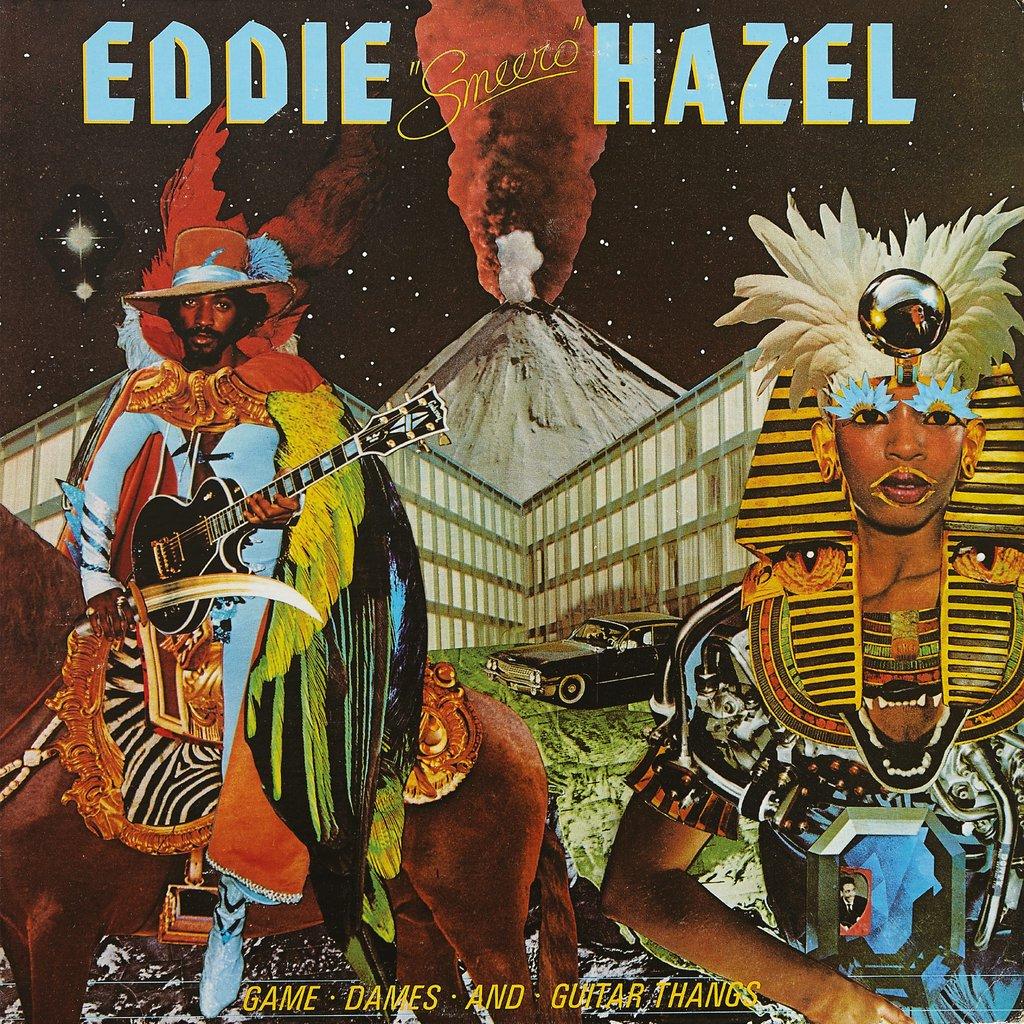 Eddie Hazel - Game, Dames And Guitar Thangs (Warner Bros., 1977). Cover art by Lou Beach.