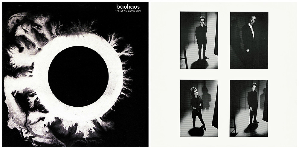 Cover art and inner sleeve for Bauhaus - The Sky's Gone Out.