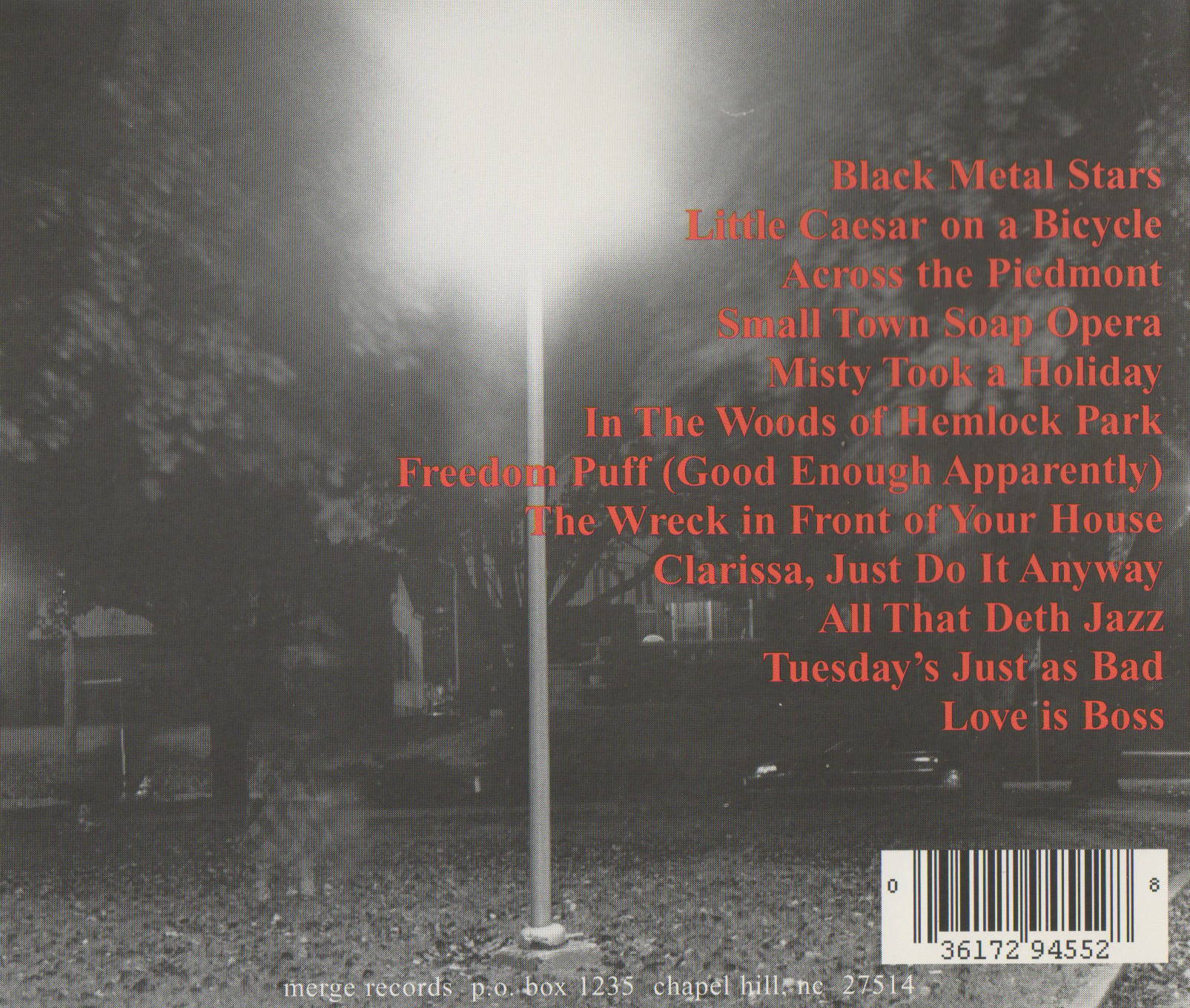 Back cover of The Rock*A*Teens - Golden Time (Merge Records, 1999)