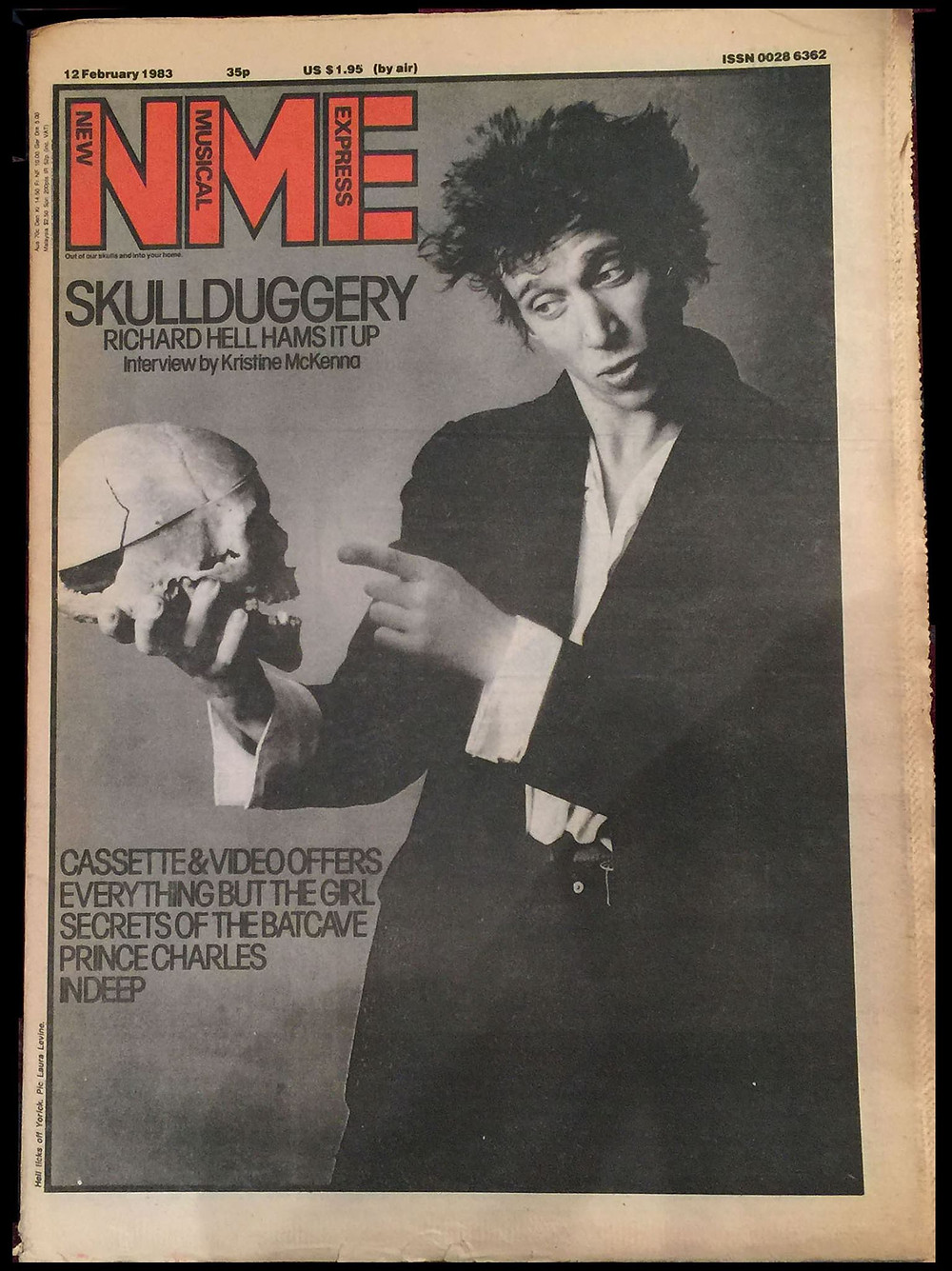 Richard Hell by Laura Levine for NME (February 1982)