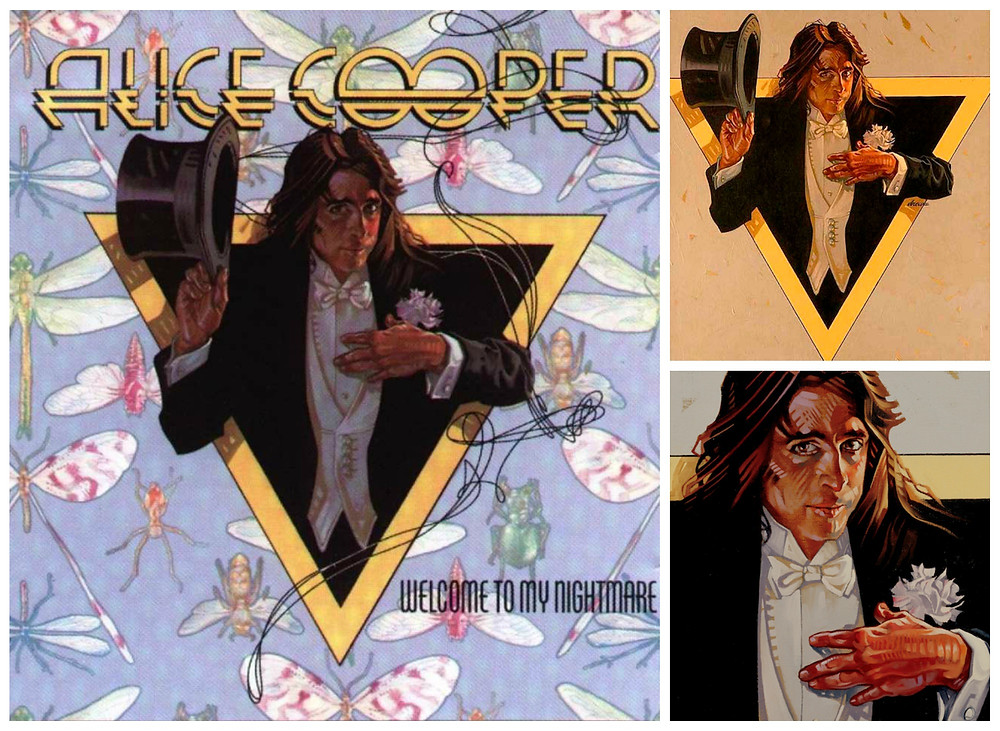 Front cover and original artwork for Alice Cooper's Welcome To My Nightmare (1975, Atlantic)