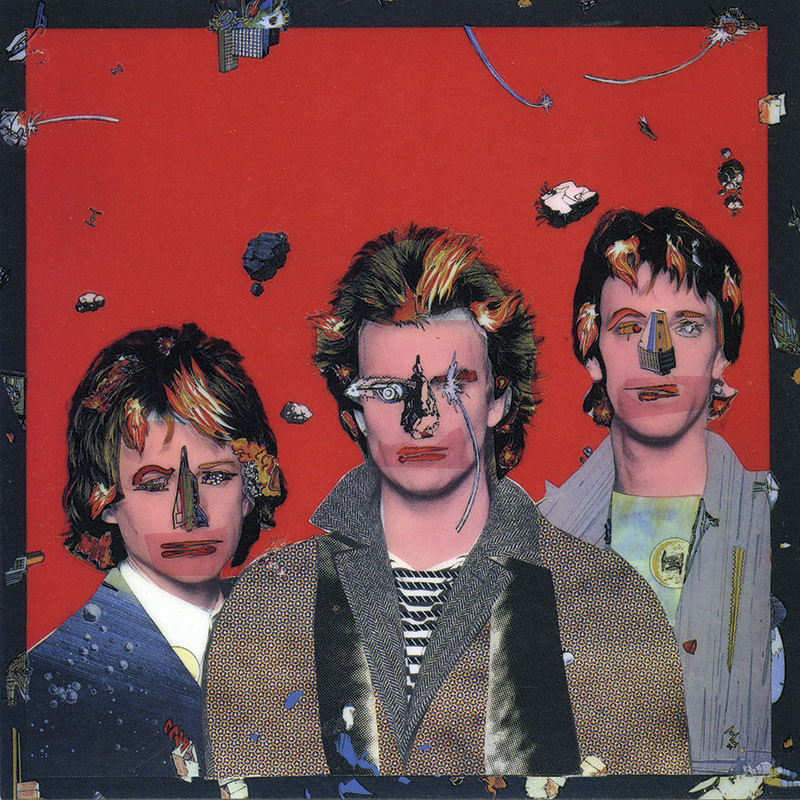 Proposed album cover artwork for The Police's Ghost in the Machine by Lou Beach