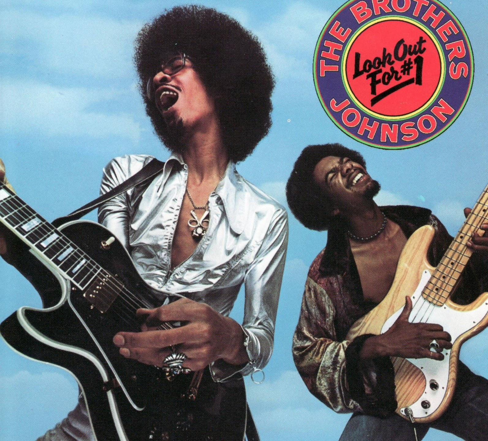 The Brothers Johnson - Look Out for #1 (A&M, 1976). Photography by Elliot Gilbert.