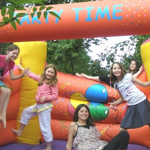 11th Birthday in a garden private home and a big bouncy castle from Tickety Boo