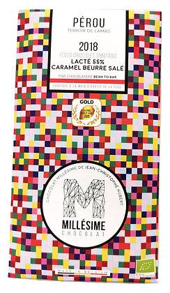 Chocolat Millésime au lait - Caramel au beurre salé 55%