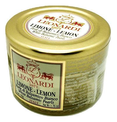 Perles de balsamique blanc au citron