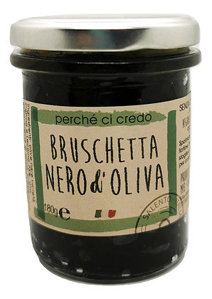 Bruschetta di olive nere