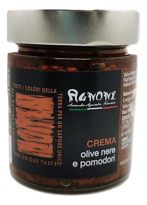 Crème d'olives noires et tomates séchées
