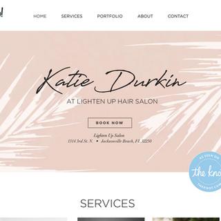 Web Design & Creation Katie Durkin Hair