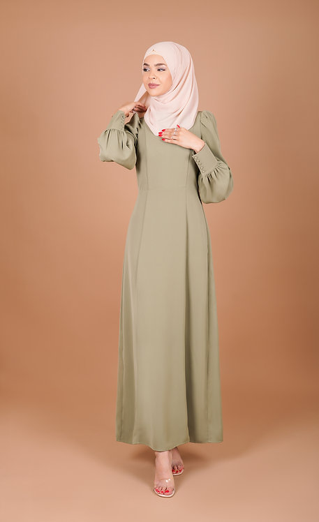 Classic Crepe Modest Dress