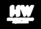 Logotipo principal HW negativo monocromo