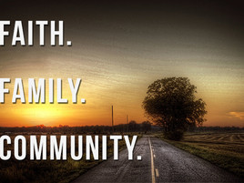 Faith. Family. Community.