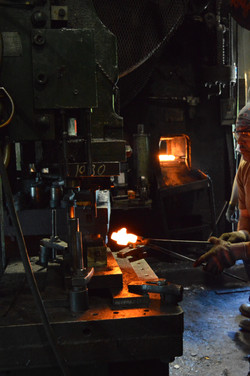 Trimming a Hot Forging
