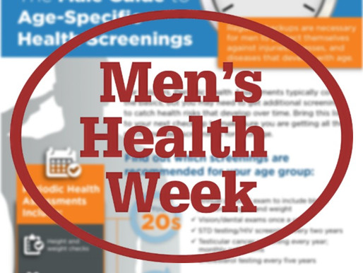 Listen up guys ! It's Men's Health Week and its time to talk