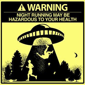 Night Running Warning Illustration