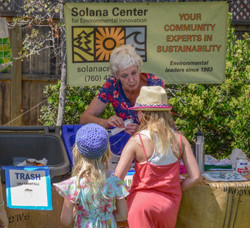 Two Girls at Solana Center Booth
