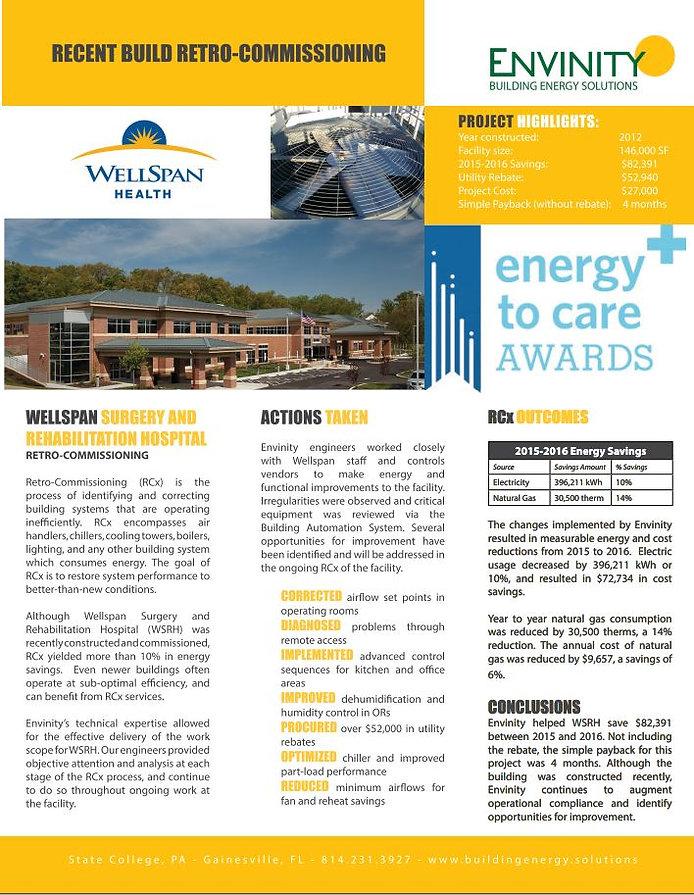 New construction Retro-commissioning; hospital; energy efficiency