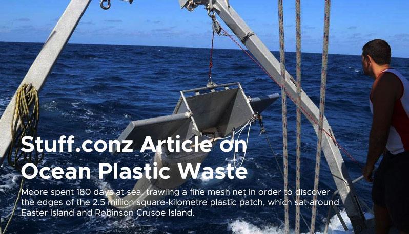 Stuff.conz Article on  Ocean Plastic Waste