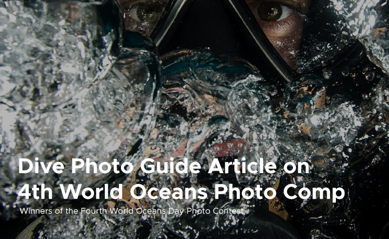 Dive Photo Guide Article on  4th World Oceans Photo Comp