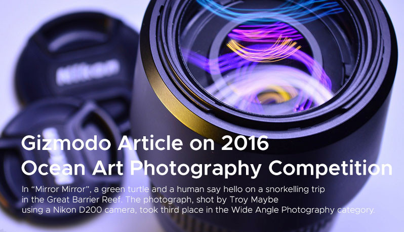 Gizmodo Article on 2016  Ocean Art Photography Competition