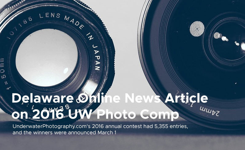 Delaware Online News Article on 2016 UWPhoto Comp