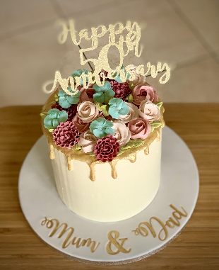 50th Anniversary Buttercream