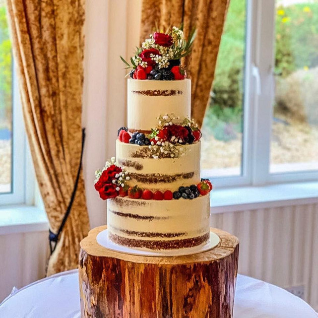 Fruity Wedding Cake