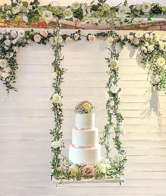 Wedding Cake on Swing