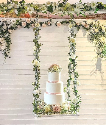 Wedding Cake on Swing