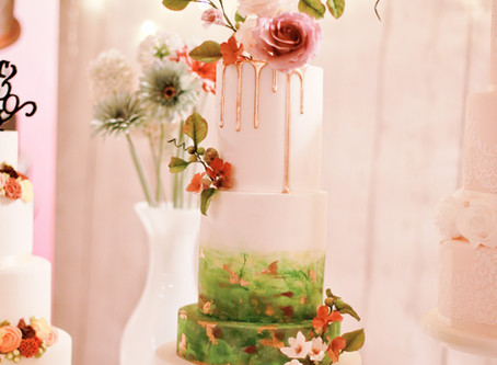 Hand-painted Wedding Cake