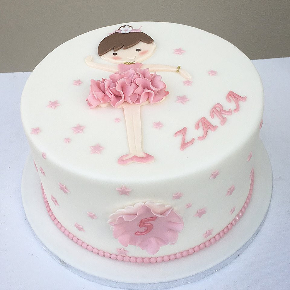 Awe Inspiring Ballerina Birthday Cake Personalised Birthday Cards Paralily Jamesorg