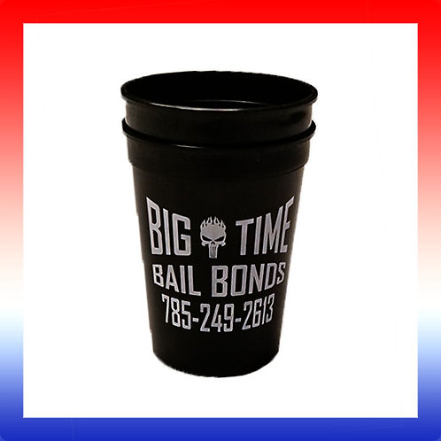 Big Time Bail Bonds Plastic Cups