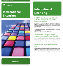 International Licensing Insert