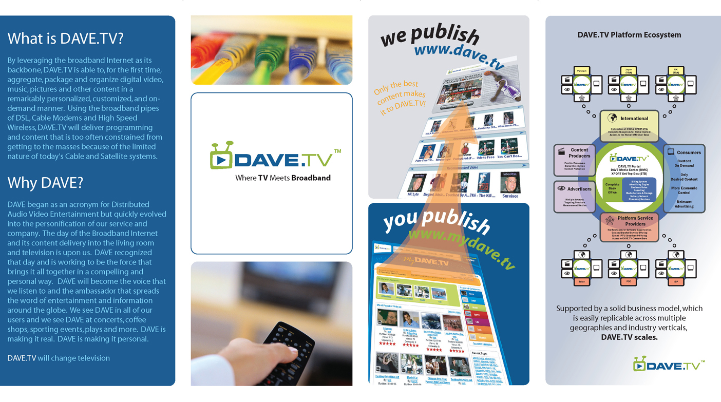 DAVE.TV Brochure (Outside)