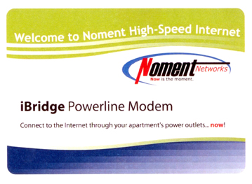 Noment Powerline Modem Packaging