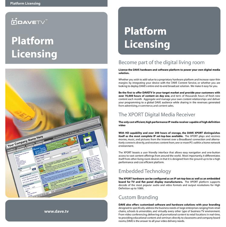 Platform Licensing Insert