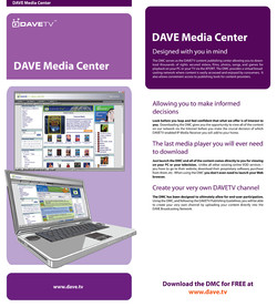 DAVE Media Center Insert