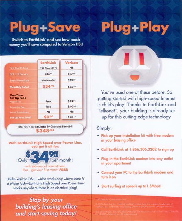 EarthLink Powerline Brochure 02
