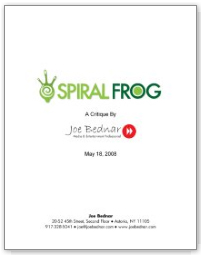 SpiralFrog Website Critique
