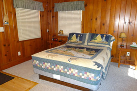 Cabin resort lodging interior Wanningan Point Taylors Fall St. Croix River