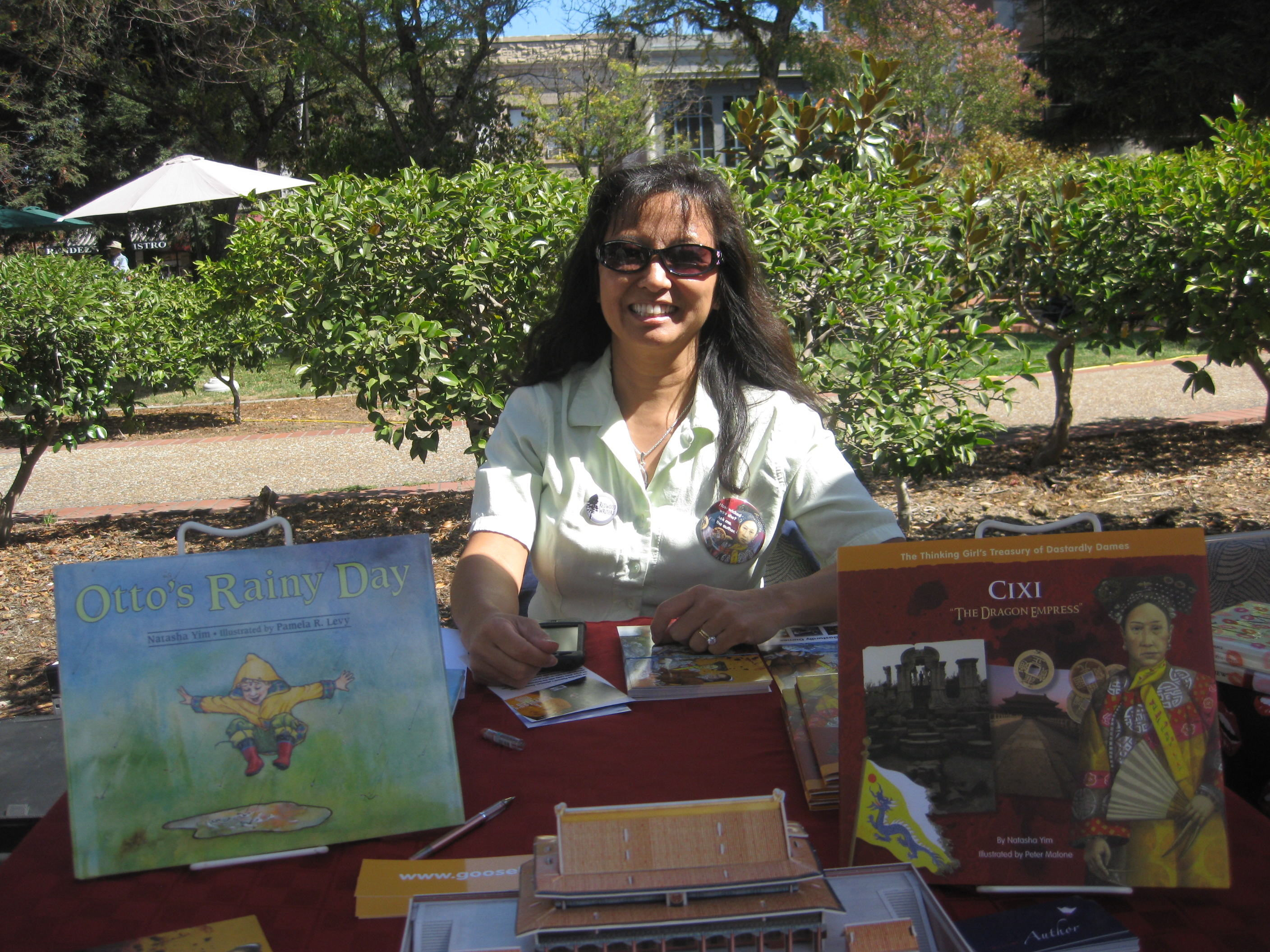 Sonoma Book Fest table