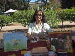 Sonoma Book Fest table