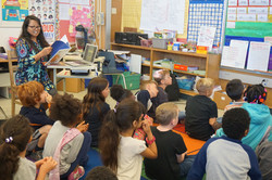 Author visit at Glenview Elementary