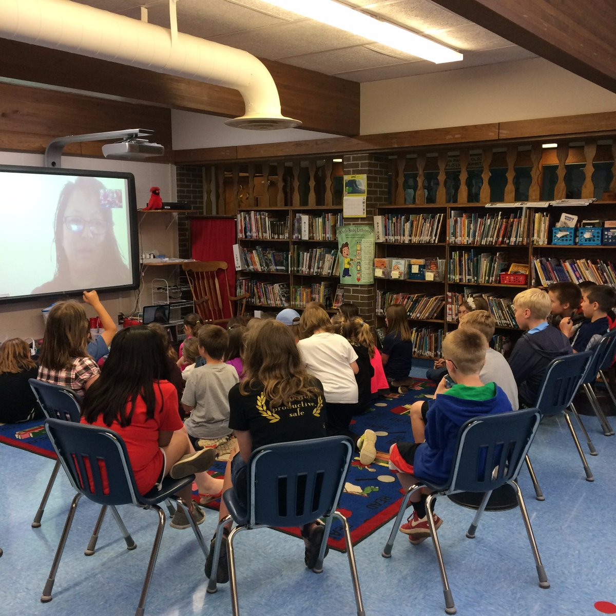 Skype visit with Wisconsin school