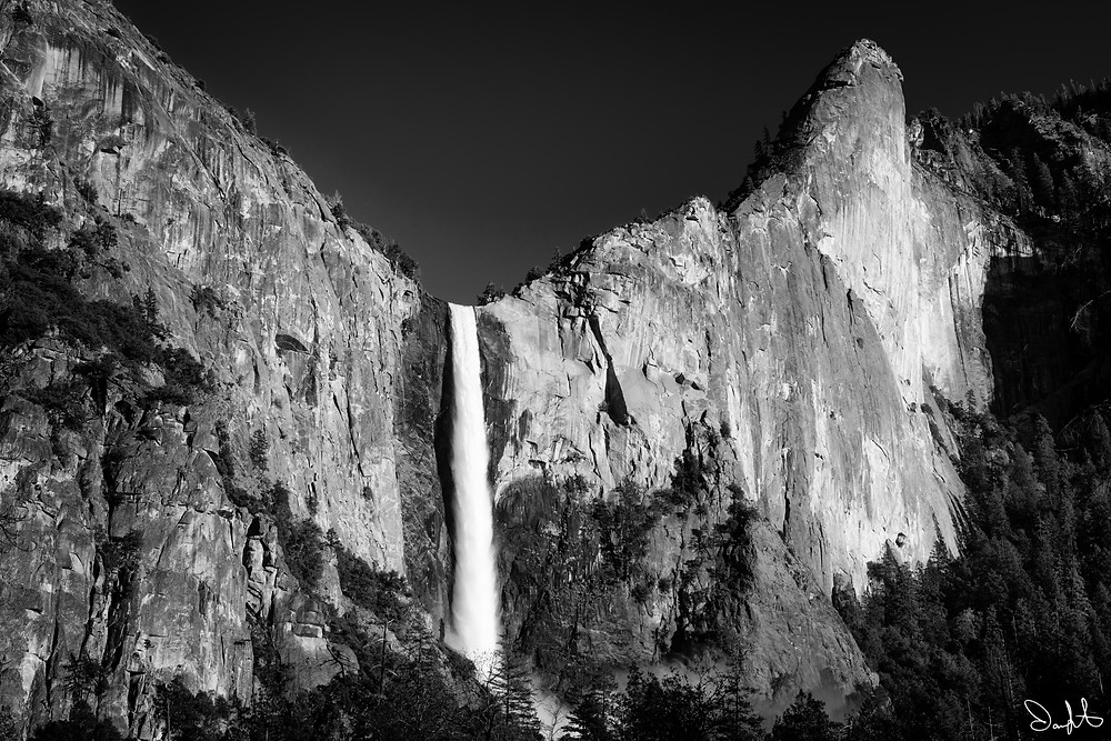 Bridal Veil falls in spring