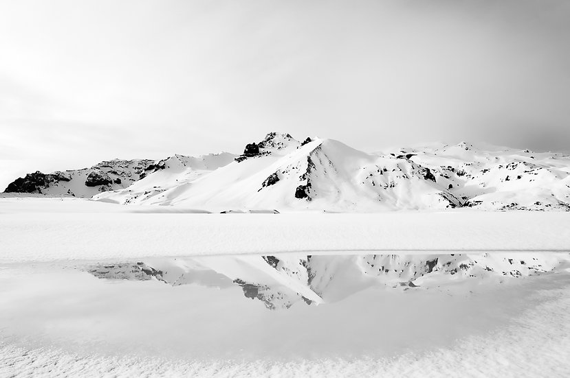 Snowscape with Reflection