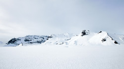 Snowfields with Mountains