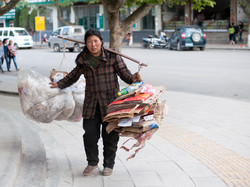 Woman with Recycling